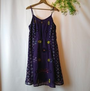 Xhilaration purple tribal dress